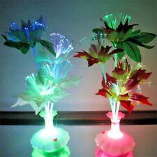 Set of 4 Multi-colour Fiber Optic Flower Lamp Light Holiday Wedding Centerpiece
