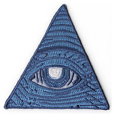 Embroidered Dollar Bill Eye Masons Watching Iron on Sew on Biker Patch Badge