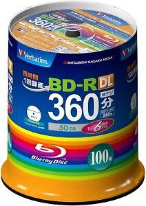 Verbatim Blank Blu-ray Bd-r DL Vbr260rp100sv1 50gb 1-6x 100 Dischi Nuovo