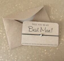 Will You Be My Best Man? Star Charm Wish Friendship Bracelet Gift & Envelope