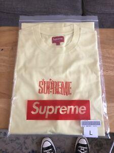 Supreme Splatter Logo Embroidered T-Shirt Size Large