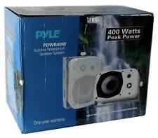 """2 Pyle 5.25"""" White Indoor Outdoor Waterproof Home Theater Speakers (Open Box)"""