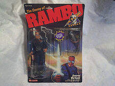 1986 RAMBO GENERAL WARHAWK ACTION FIGURE,coleco 0804,s.a.v.a.g.e. movie,i d card