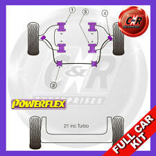 Renault 21 inc Turbo 12mm Camber Bolt Kit Powerflex Complete Bush Kit