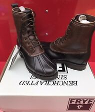 $400 BNIB FRYE LEATHER VERONICA DUCK STYLE WOMAN'S BOOTS size 6.5 winter warm