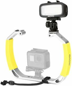 Movo XL Underwater Scuba Diving Rig Bundle with Waterproof LED Light for GoPro