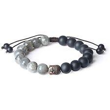 Natural Bracelets Labradorite Matte Onyx Buddhist Prayer Bead For Men