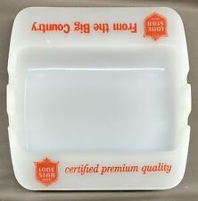Vintage Lone Star Beer Milk Glass Ashtray From The Big Country Certified Premium