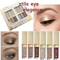 NEW Stila makeup set Eye  Elegance Shimmer Glitter Liquid Eye Shadow 6pcs