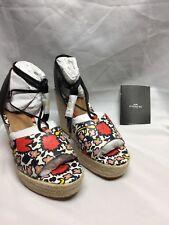 Coach Dana floral silky Espadrille Wedge Sandals  A01953 NIB