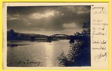 cpa CARTE PHOTO 54 - TONNOY (Meurthe et Moselle) Le PONT en 1935