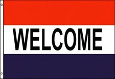 3'x5' Welcome Message Flag Outdoor Banner Business Advertising Sign Huge New 3x5