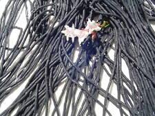 Twisted Black Matte #3  Glass Bugle Beads