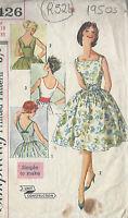 "1950s Vintage Sewing Pattern DRESS B33"" (R524)"