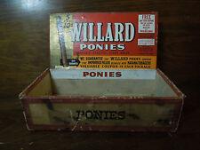 Vintage Willard Ponies Cigar Box