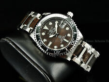 Invicta Women Grand Diver Brazilian Black Rosewood Woody NH35A Auto SS Watch
