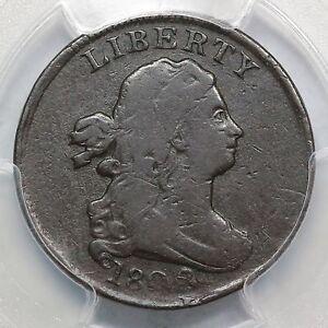 1802 C-2 R-3 PCGS VG 10 D/S 98% O/C Draped Bust Half Cent Coin 1/2c