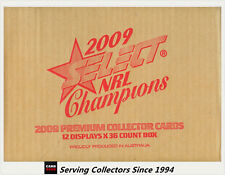 FACTORY CASE! Select 2009 NRL CHAMPIONS CARD FACTORY CASE (12 BOXES + CASE CARD)