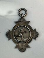 Antique/vintage Sterling Silver 925 Albert Chains Watch Fob Medal Football