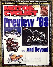 Motorcyclist July 1997 1998 BMW R1200C RSR Kawasaki ZX-12 Ducati ST2 Preview