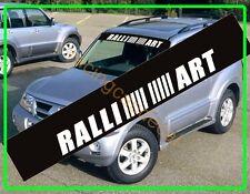Ralliart Sun Strip Windshield Decal Sticker Mitsubishi pajero lancer galant evo