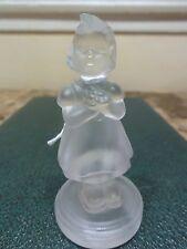 Goebel Clear Crystal Flower Girl 1990 Figurine