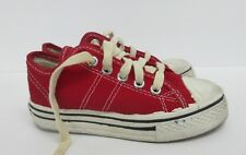 Vintage Retro Converse Low Top Kids' Shoe in Red Size: 11