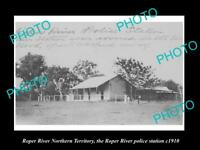 OLD LARGE HISTORIC PHOTO OF ROPER RIVER NT, VIE WOF THE POLICE STATION c1910