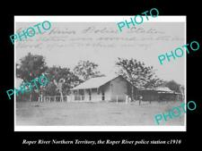 OLD LARGE HISTORIC PHOTO OF ROPER RIVER NT VIE WOF THE POLICE STATION c1910
