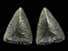 jewelry black crystal cone triangle design silver plate stud earring fashion E04
