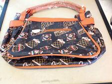 "Designer Govali style Women/ Ladies Handbags Purse 10"" H x 17"" L Bag Coffee"