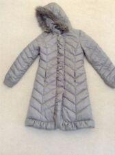 Donna Karan DKNY Down Gray Long Puffer Winter Coat Jacket Womens XS
