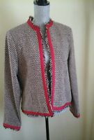BEAUTIFUL ANNE  CARSON WOMAN'S JACKET SIZE XL RED BROWN GREAT CONDITION