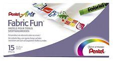 Pentel Fabric Fun Pastel Dye Sticks Colourful Pastels Clothing - Pack 15