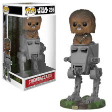"Star Wars Chewbacca con AT-ST andador 3.75"" Vinilo Pop Funko 236 Reino Unido Vendedor"