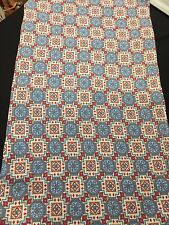 VINTAGE BLUE AND RED FEEDSACK FABRIC KITCHEN TOWEL