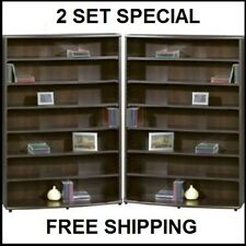 Multimedia DVD Tower CD Rack Shelf Storage Cabinet Organizer Media Stand 2 Set