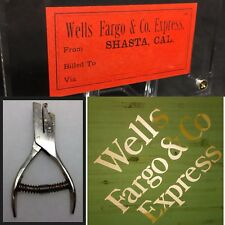 Wells Fargo & Co Express Silk Screen & Railroad Ticket Playing Cards Spade Punch