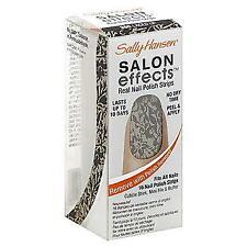 ⭐️ SALLY HANSEN SALON EFFECTS 16 NAIL POLISH STRIPS 360 LACED UP