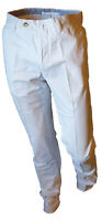 Pantalone Chino Classico Elegante Uomo Leggero Estivo GTA Gamba Dritta Bianco 44