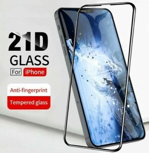 Full Cover Tempered Glass HD Screen Protector For iPhone 12 11 X XS XR Pro MAX