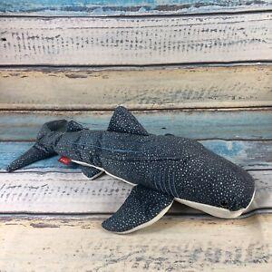 "FAO Schwarz Blue Whale Shark Stuffed Animal Plush Blue White Spotted 24"" Ocean"