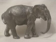 vintage Austrian Vienna small elephant detailed solid metal antique figure
