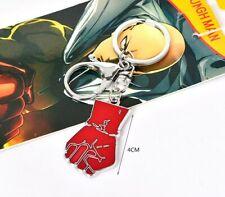 One Punch Man Saitama Metal Model Fist Keychain Key Ring Pendant Anime Gift ♫
