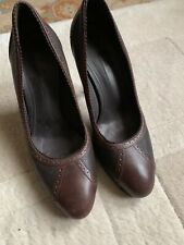 Loro Piana Shoes Heels Size 37 Used Brown Leather Pumps