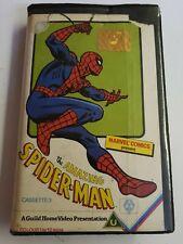 THE AMAZING SPIDER-MAN CASSETTE 3 PRE CERT VHS VIDEO GUILD PLEASE READ!