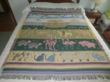 "Two-By-Two Noah'S Ark Acrylic Fringed Throw - 50"" x 64"""