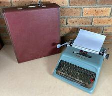 Vtg 1960s Olivetti Underwood Studio 44 Portable Typewriter Works Great W/ Case