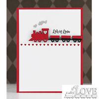 LOVE Train MetaL Cutting Dies Stencils Handcrafts Paper Card Crafts Supplies
