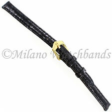 9mm Di-Modell Pavo Royale Royal Turkey Black Stitched Ladies Watch Band